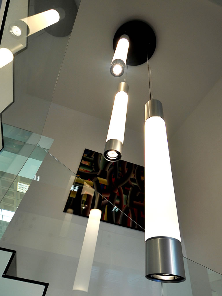 Aldebaran Biella - plafoniere Principio da soffitto con faretto integrato