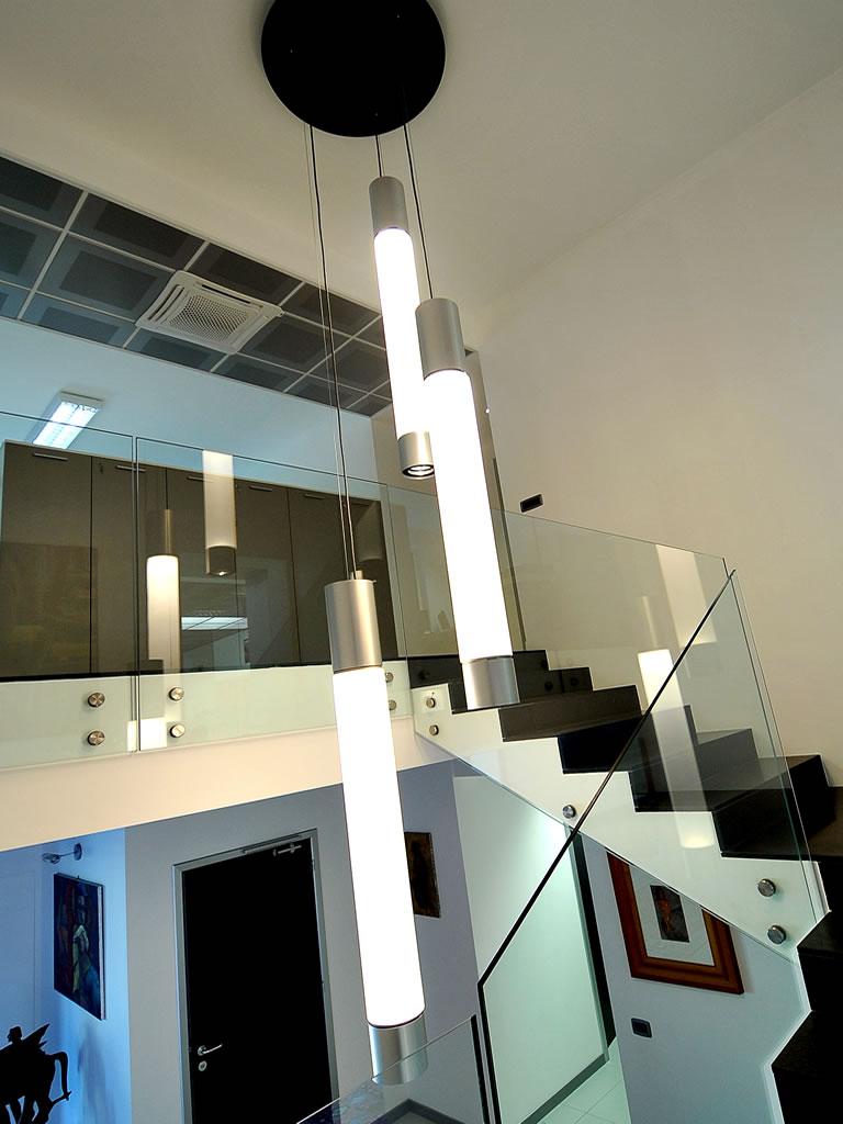 Aldebaran Biella - esempio per quando serve illuminare da soffitto molto alto con linea Principio