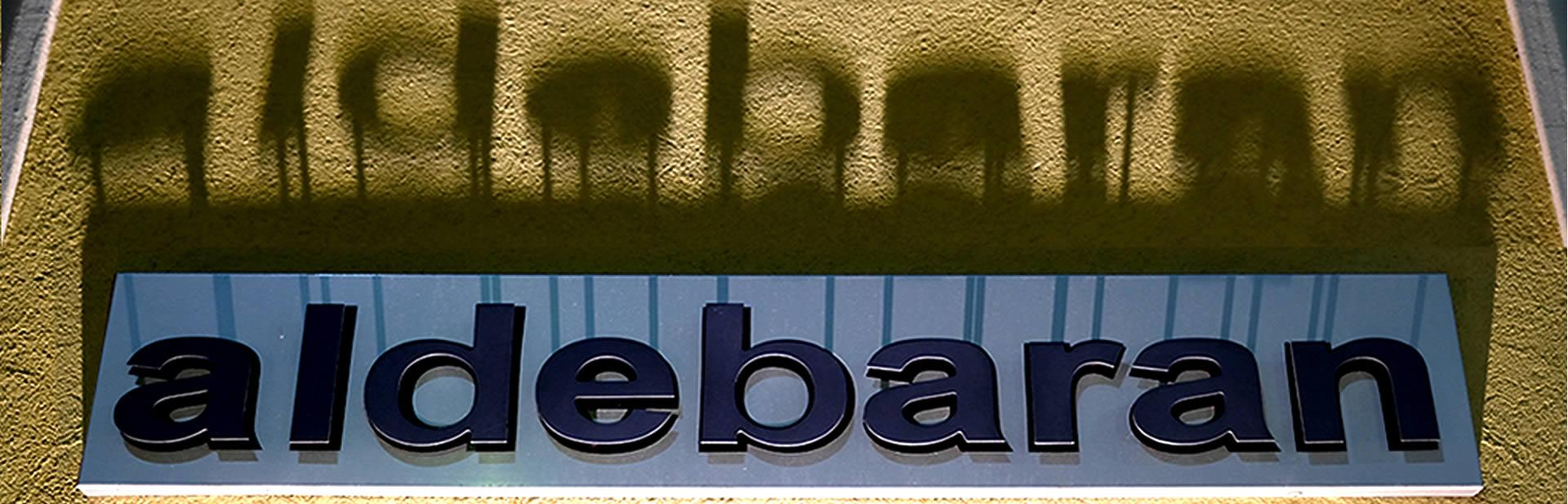Aldebaran - Lo showroom di biella - Particolare Insegna