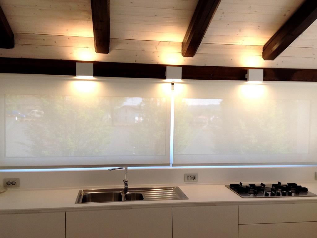 Aldebaran - Biella - esempio realizzazione illuminotecnica di una cucina in mansarda
