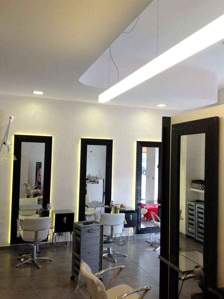 Aldebaran - Realizzazioni Parrucchiera Nuova Immagine di Biella per illuminare in modo ergonomico e senza abbagliamenti